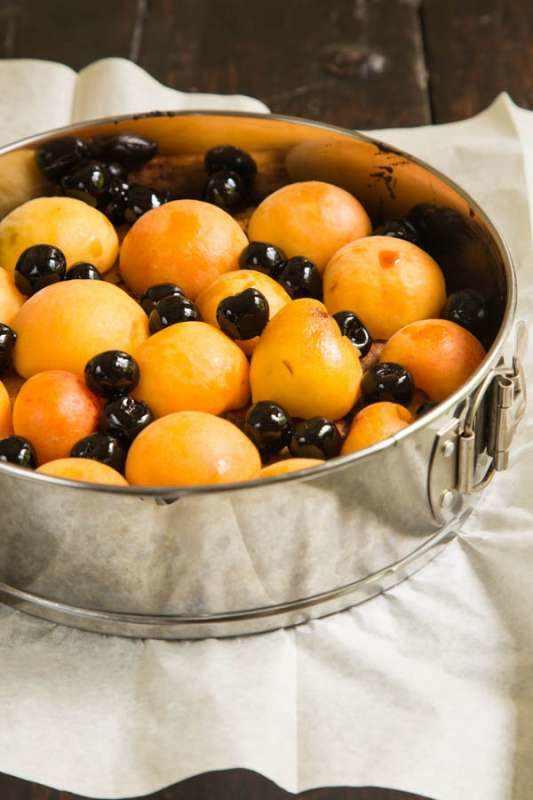 חפצים עוגת לואיז פרועה של  לימון ופירות קיץ