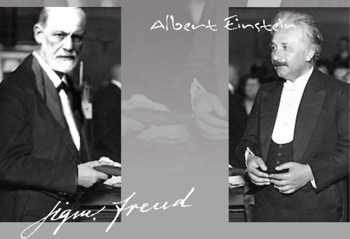 חפצים Dates: 1927 and 1929.<br> Place: Austria.<br>Interviewer: George Sylvester Viereck, a German-born American journalist<br>Interviewees: Sigmund Freud and Albert Einstein.