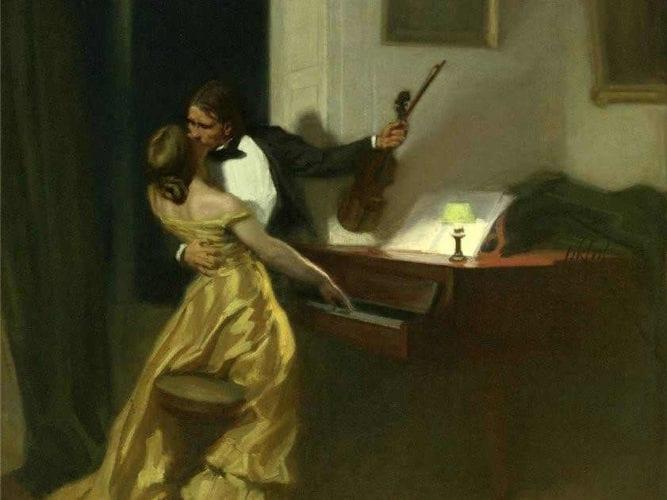 """חפצים סיפור לוהט - כוחה של אהבת גבר ואישה וקנאה אומללה<br><br>בטהובן כתב את סונטת קרויצר (1803), קרויצר, כנר מפורסם שמעולם לא ניגן את סונטת קרויצר ובכ""""ז היא על שמו,  טולסטוי כתב את הנובלה """"סונטת קרויצר"""" (1889), רנה פרינה, צייר צרפתי, צייר את """"סונטת קרויצר"""" (1901), לאוש יאנאצ'ק, מלחין צ'כי, הלחין סונטת קרויצר משלו (1923).<br><br>""""רביעיית כרמל"""" המעולה מתירה את חוטי התווים, המילים, צבעי הבד והביצועים."""